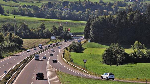 Highway, Transport, Travel, Public Space, Road, Asphalt