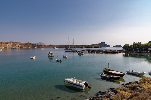 Port, Boats, Water, Sea, Holiday, Landscape, Blue