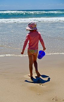 Child, Beach, Sand, Fun, Play, Sea, Waves, Happy