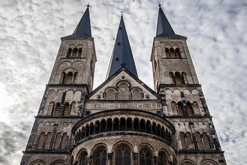Church, Münster, Christianity, Architecture, Imposing