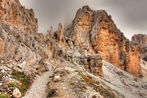 Fanis, Dolomites, Alm, Nature, Summer, Clouds, Rock