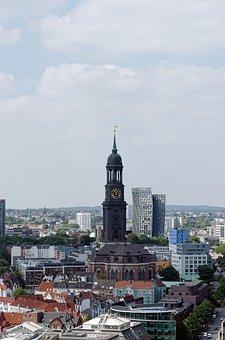 Hamburg, Michel, Dancing Towers, Architecture, Modern