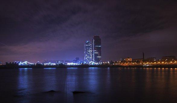 Night, Lights, City, Dark, Light, Architecture