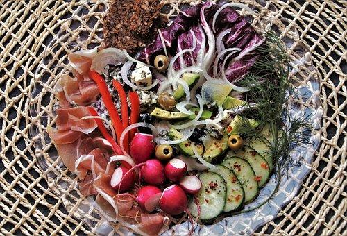 Plate, Breakfast, Salad, Food, Fresh, Sisal, Delicious