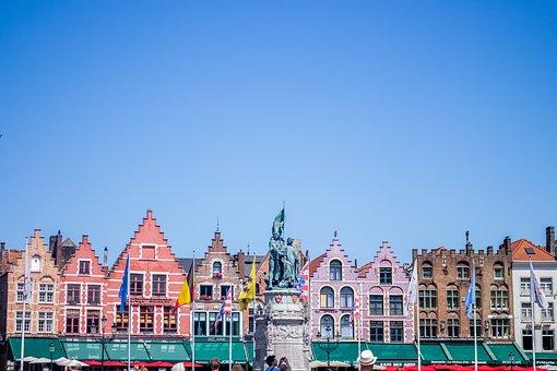Bruges, Belgium, Restaurants, Statue, Travel, Europe