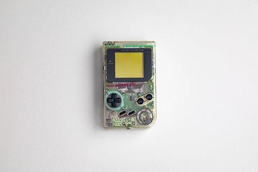 Gameboy, Original, Clear, Transparent, Handheld