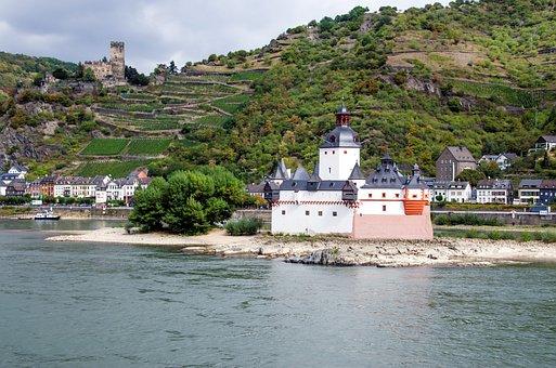 Germany, Toll Castle Pfalzgrafenstein In The Rhine