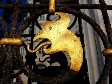 Dragon, Gilded, Window Grilles, Wrought Iron, Security
