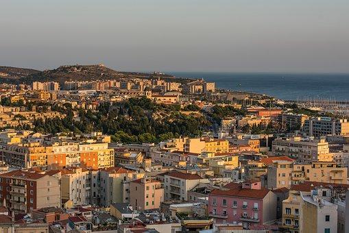 Cagliari, Italy, Sardinia, City, Houses, Mediterranean