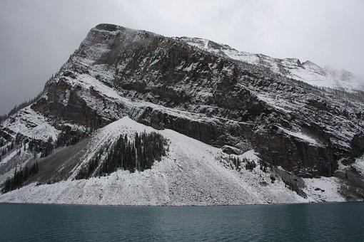Mountains, Banff, Jasper, Lake, Alberta, Landscape