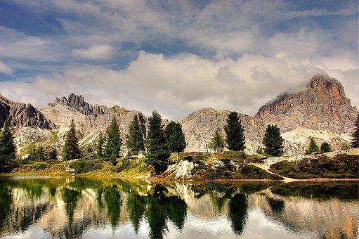 Tofana, Dolomites, Italy, Mountains, Alpine, Landscape