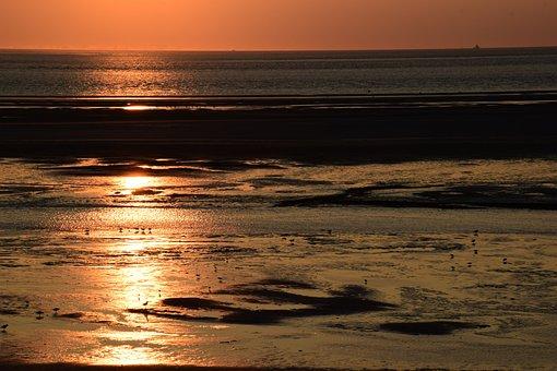 Sunset, Langeoog Sunset, North Sea, Langeoog