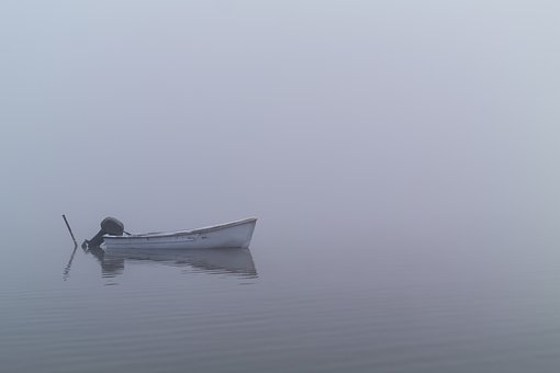 Boat, Lake, Mist, Misty, Calm, Morning, Water, Nature