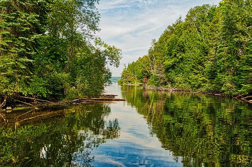 Narrows, Boat Path, Sky, Water Reflection, Path, Scenic