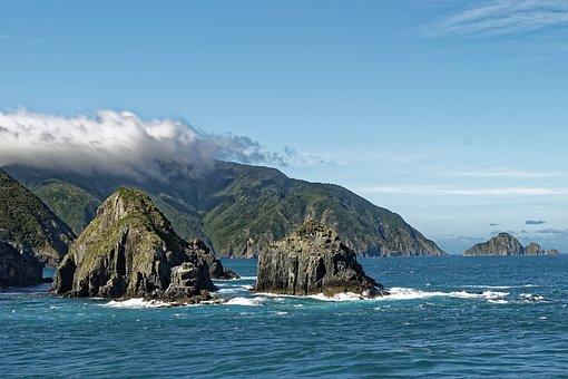 New Zealand, Cook Street, Arapawa Island, Landscape