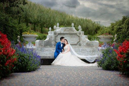 บุคล, Lady, Bride, Wedding, Pair, People