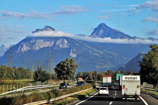 Highway, Mountains, Top, Panorama, Mountain, Road, See