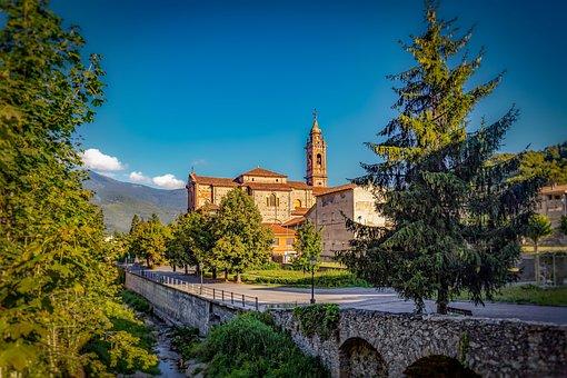 Church, Garessio, Italy, Piedmont, Idyllic, Mountains