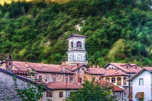 Church, Tower, Italy, Piedmont, Architecture, Building