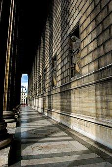 Shadows, Hallway, Corridor, Pillars, Marble