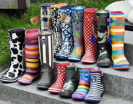 Shoes, Rubber Boots, Exhibition, Footwear, Rubber
