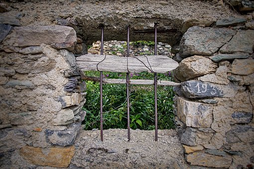 Window, Bars, Old, Stone, Ruin, Abandoned, Weathered