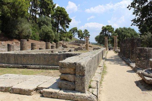 Greece, Ruins, Temple, Tourism, History, Architecture
