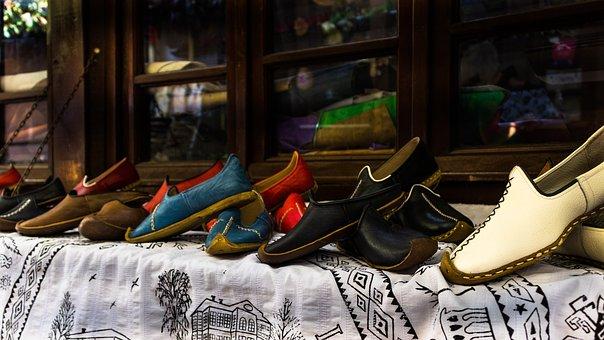 Safranbolu, On, Kent, Street, Turkey, Classic, Shoes