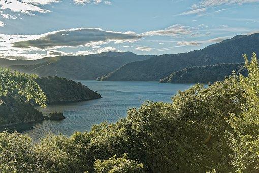 New Zealand, Ngakuta Bay, Bay, South Island, Landscape