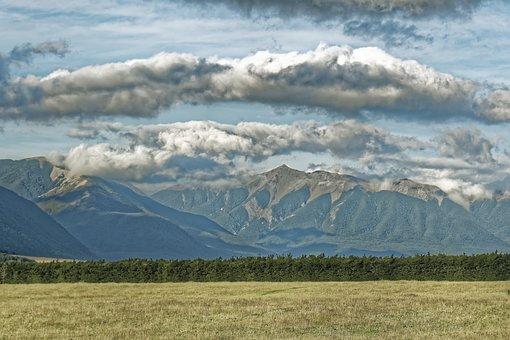 New Zealand, Canterbury Region, South Island, Landscape