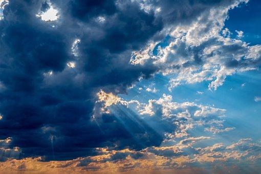 Sky, Clouds, Sunlight, Sunset, Weather, Storm