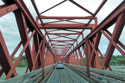 New Zealand, Taramakau Road-rail Bridge, South Island