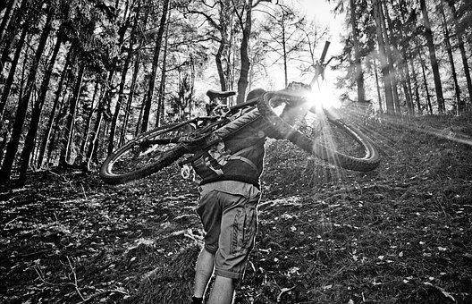 Mountain Bike, Uphill, Hill, Hike, Sport, Mountains