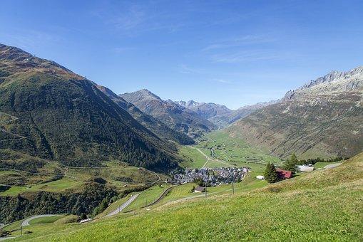 Andermatt, The Urseren Valley, Landscape, Uri