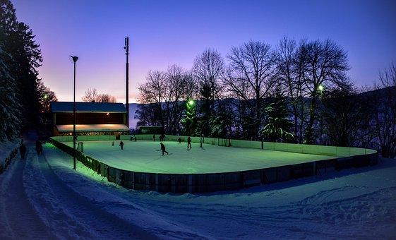 Ice Rink, Winter, Cold, Skating, Natural, Hockey, Gel