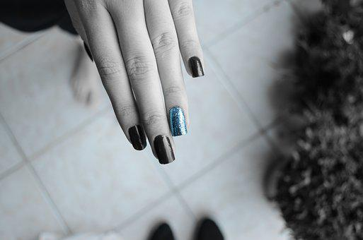 Nails, Hands, Blue, Woman, Beauty, Girl, Hand, Young