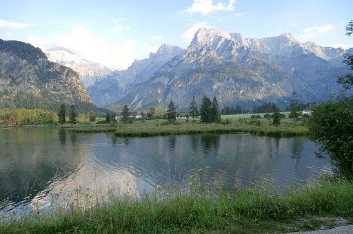 Almsee, Austria, Bergsee, Vote, Landscape, Almtal