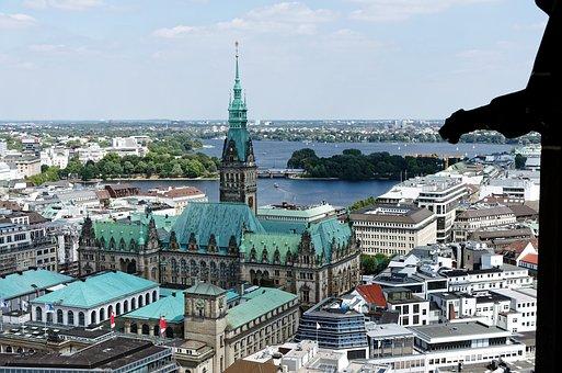 Hamburg, Town Hall, Alster, Hanseatic City, Stadtmitte