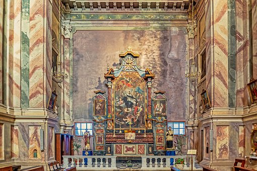Altar, Church, Italy, Architecture, Religion