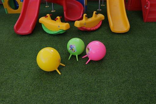 Toys, Slides, Balloon, Balloons, Colorful