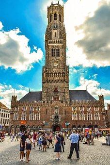 The Belfry Of Bruges, Brugge, Bruges, Belgium, Tower