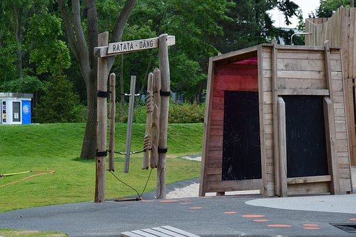 Playground, Wood, Children, Play, Children's Playground