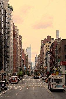 New York, America, City, Traffic, Autos, Downtown