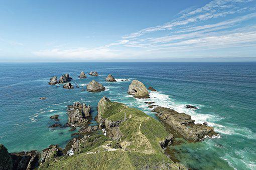 New Zealand, Nugget Point, Rock, Coast, South Island