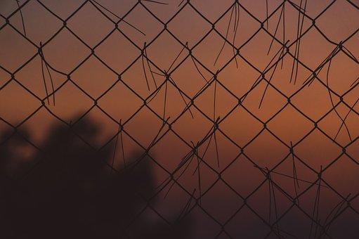Chains, Sunset, Orange, Teal, Chain, Evening, Sunrise