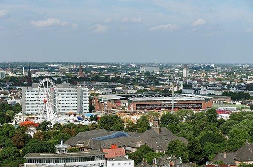 Hamburg, Altona, Dom, City View, Outlook, Ferris Wheel