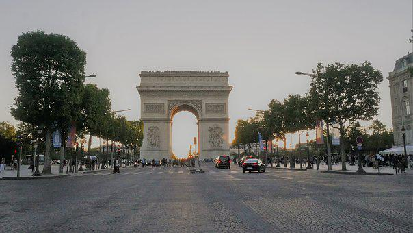 Place Charles De Gaul, Paris, Arch Of Triumph, France