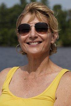 Portrait, Smile, Relaxing, Fun, Sun, Person, Female