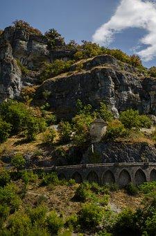 Rocamadour, Golden, Autumn, Travel, Park, Sky, Road