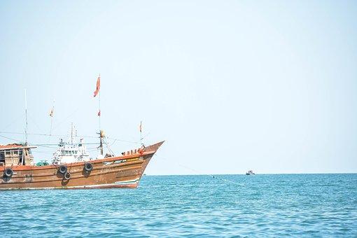 Sea, Boat, Yacht, Indian Ocean, Arabian Sea, Fisherman